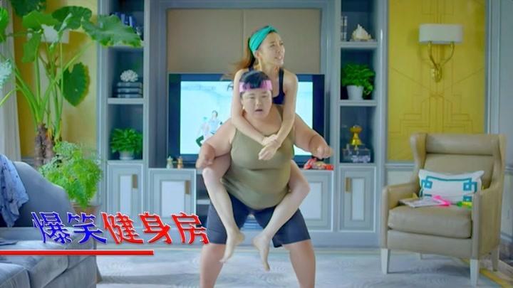 大鵬舉杠鈴,看見美女來了,動作太搞笑!影視中的爆笑健身